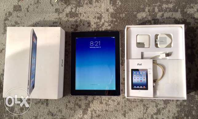 iPad 3 (4G+Wifi) 16 GB, all Accessoires included. ايباد ٣