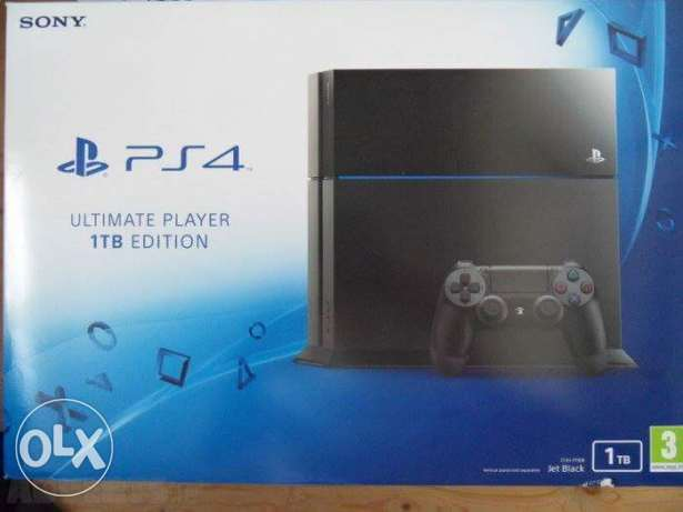 PlayStation 4 for sale (new) 1 tera بلايستيشن 4 متبرشم