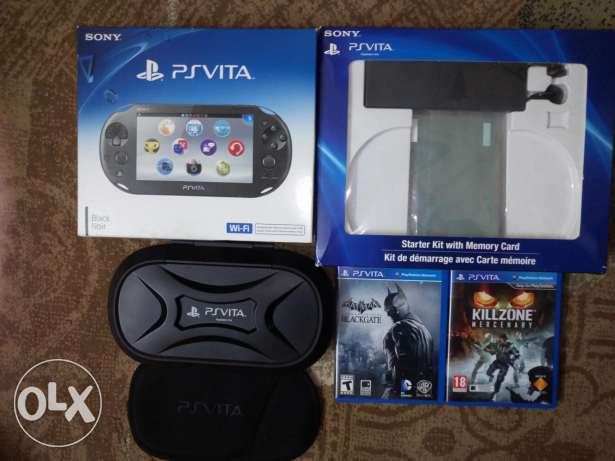 Psvita with 2Games,Starter Kit And 2MemoryCard