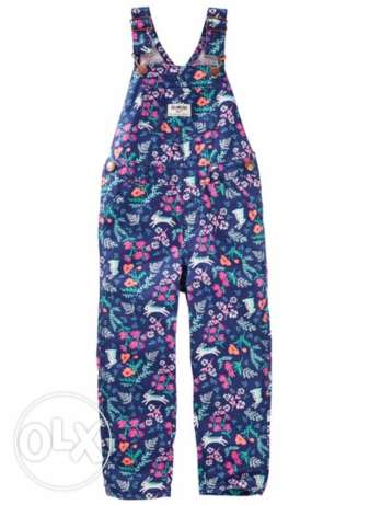 floral twill overall