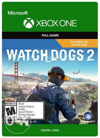Watch dogs 2 xbox one digital code