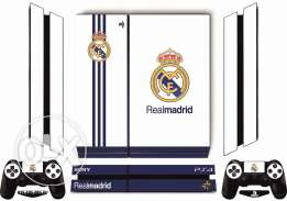 PS4 Real Madrid (white) Skin with free light bar For Playstation 4