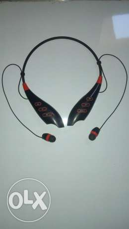L.G stereo-Bluetooth Headset with memory card reader (Black_Red)