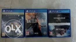 BF1, DESTINY, beyond 2 souls and heavy rain