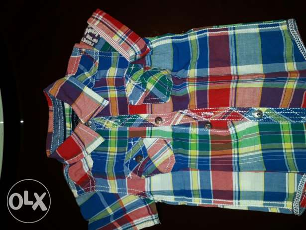 Tommy Hilfiger caro shirt excellent condition from 9 to 12 month