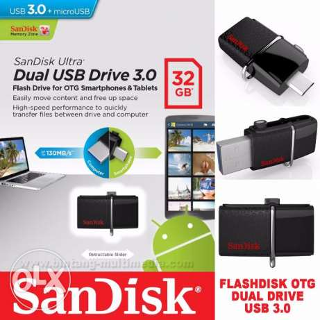 Flash Drive SanDisk Ultra 32GB OTG Android USB 3.0