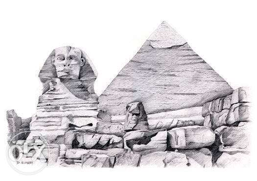 لوحة ابوالهول - Sphinx Painting