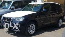 BMW X3 model 2017 zero 2000 CC black color