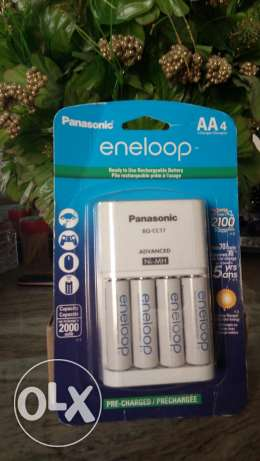Panasonic eneloop adapter & AA rechargeable batteries Made in Japan