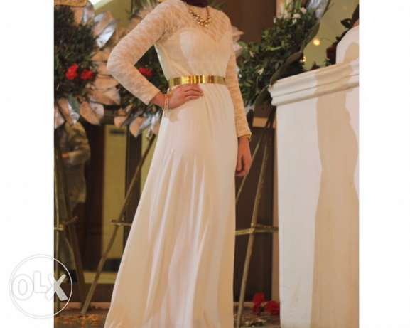 White dress jouber without the belt