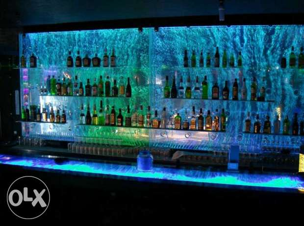 water bubble backdrops for cafe and bars and clubs