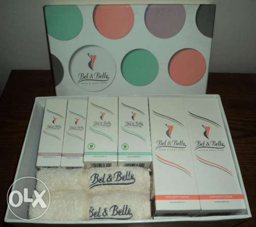 Bel&Belle Pack (Face Cream+Hair Bath+Whitening Cream) Family Pack (x4)