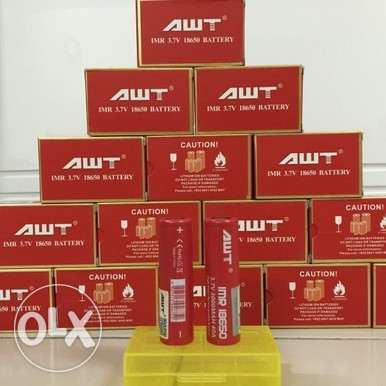 RED AWT 3.7V 3000MAH 40A with sealed with scratch codes
