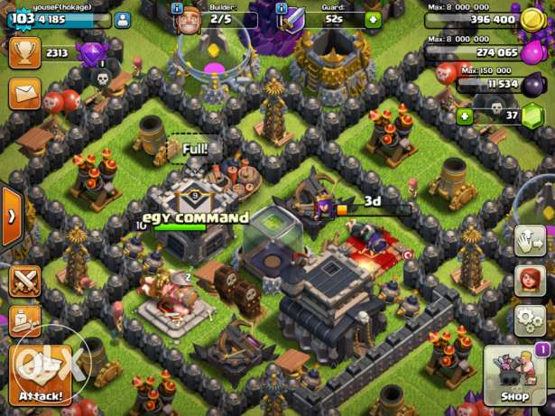Clash of clans game 6 أكتوبر -  4