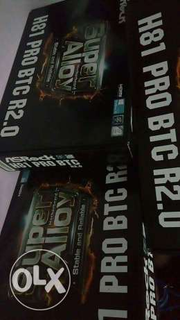 Asrock motherboard H81, for mining, 6 cards