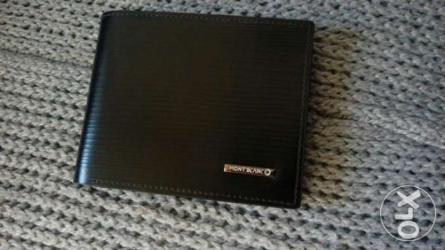 Mont blanc black new wallet
