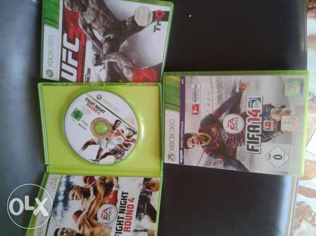 ufc3 & fight night round 4 (2 xbox 360 original games)-pal