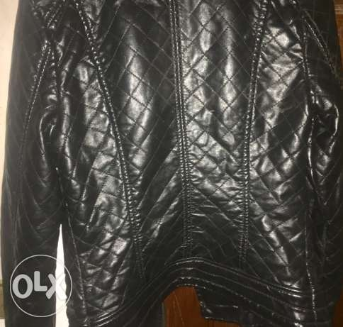 Black heavy leather jacket الهرم -  2