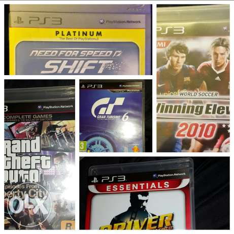 Five games for PS3