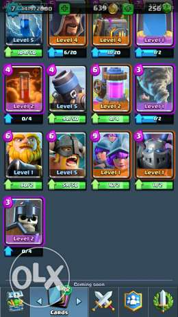 Clash royale arena 7 account حى الجيزة -  7