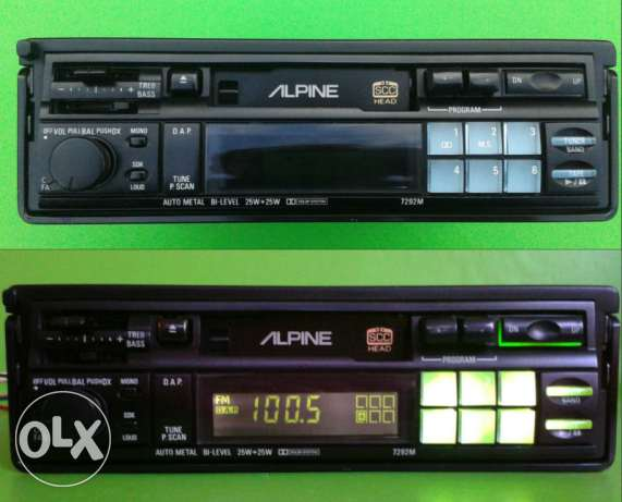 Alpine 7292 car stereo cassette receiver old school from France