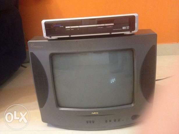 TV NEC 14 Inch like new and receiver Truman tm1000 together 550.very g