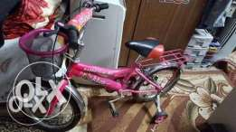 Barbie Girls' Bike size is 16 from 4 to 9 years