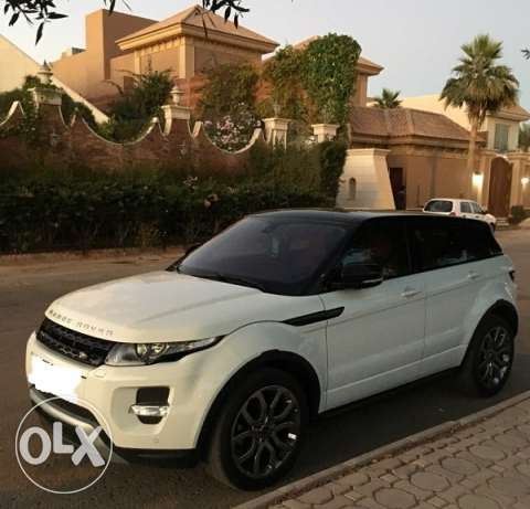 rang rover evouqe model 2014 white color