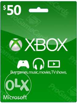Xbox gift card 50 $