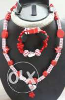 Red kids necklace and bracelet
