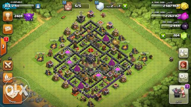 clash of clans town9max with a good clan حلوان -  5