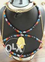 Colored handed necklace