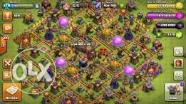 Clash Of Clans lvl 180, TH 10, Max 100% Heroes /Walls/Troops