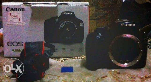Canon 1100D professional camera (BODY) with box and 8GB card.