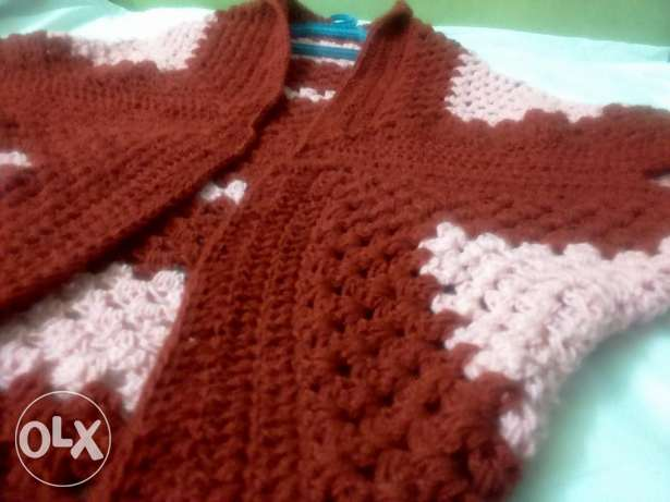 Square Cocoon Sweater crochet Hand Made شبرا -  1
