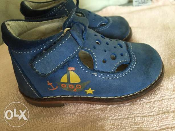 Leather shoes for the first steps