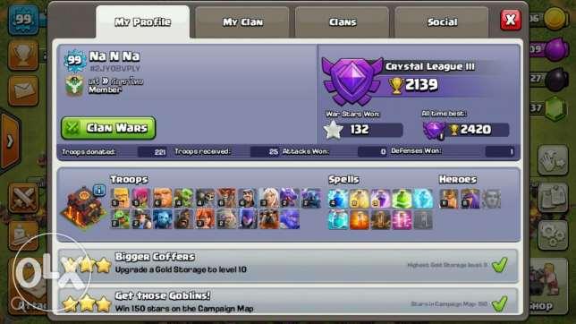 x.Bow 2  Town Hall 10  Queen 8  King 11  Tesla 4  Inferno Tower  Wizard Tower 7