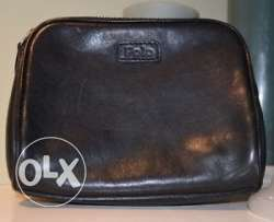 Makeup leather bag