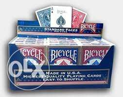 Bicycle cards only 1 blue left