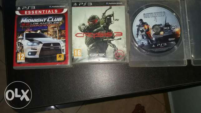 Ps3 CDs : Battle field 4...Crysis 3. Midnight club Rockstar