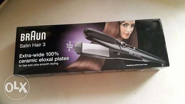 Braun ST310 Hair Straightener With Wide Plates - Black