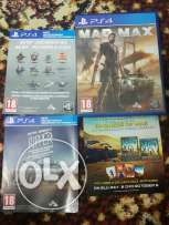 2 ps4 cds madmax and ride all with cods unused for sale for 400