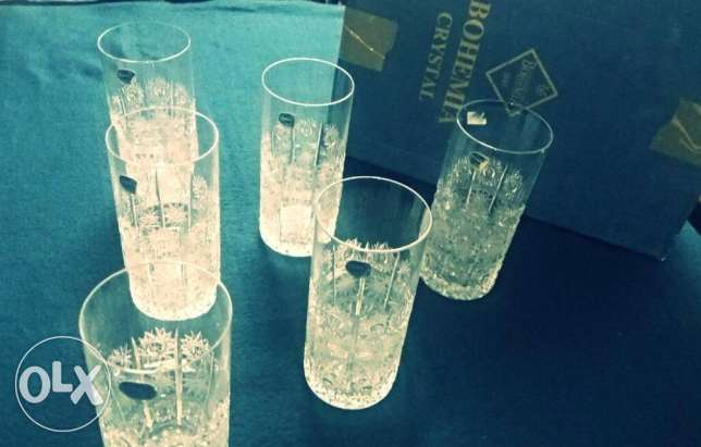 "Crystal Glasses "" Hand Cut Lead Crystals"" .. Made in Czech Price 1000$ الإسكندرية -  1"