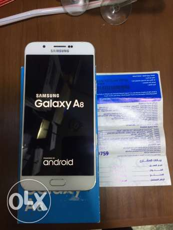 Samsung Galaxy a8 White /32G / As New /No any scratch/ All accessories مدينة نصر -  1