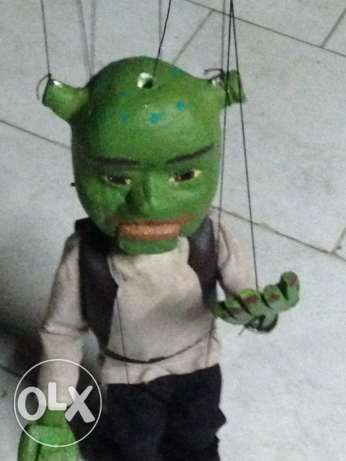 Shrek's marionette handmade moving mouth