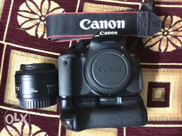 Canon T4i + lens 50m 1.8 + bettery Grib + 2 bettery for sale