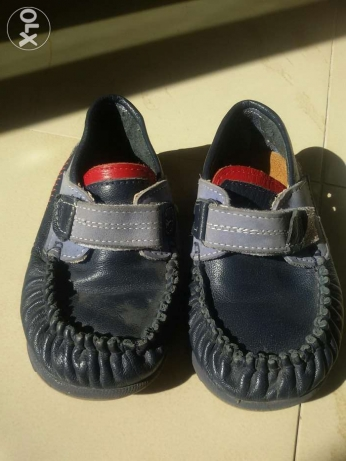 Real leather kids shoes size 24