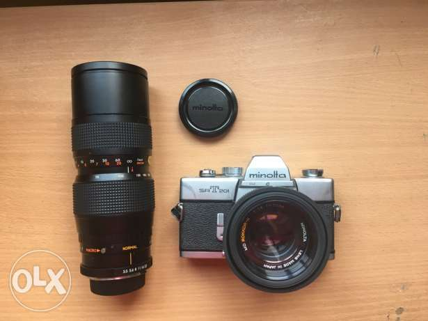 Minolta srt 201 for sale with 2 lenses and case