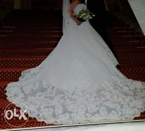 Wedding Dress from Canada Used Once فستان فرح من كندا