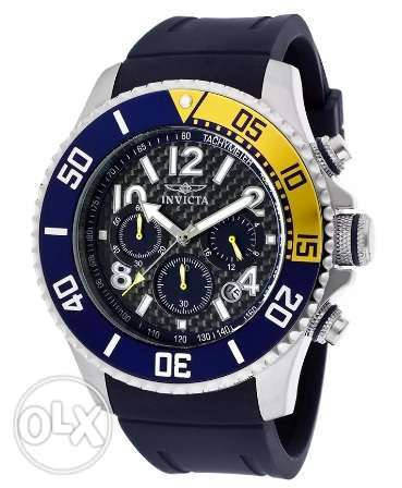 Original New Invicta Watch Silver x Blue